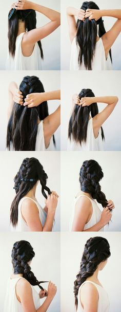 Big triple French braid.