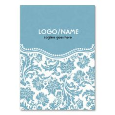 Pastel Bluand White Vintage Floral Damask-Customized Business Card Templates. This is a fully customizable business card and available on several paper types for your needs. You can upload your own image or use the image as is. Just click this template to get started!