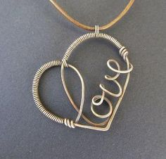 Creative wire wrapped heart pendant necklace. Craft ideas from LC.Pandahall.com | Necklace 2 | Pinterest by Jersica