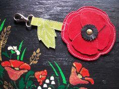 """porte clés / bijoux de sac """" fleur """""""