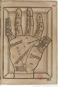 Titre :  Die Kunst Ciromantia  Auteur :  Hartlieb, Johann  Éditeur :  Jörg Schapf (Augsburg)  Date d'édition :  1490-1495  XYLO-41  Folio 291r