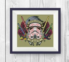 BUY 2, GET 1 FREE! Stormtrooper Cross stitch pattern, Star Wars Cross stitch pattern, Only the emperor can judge me, P184 by NataliNeedlework on Etsy