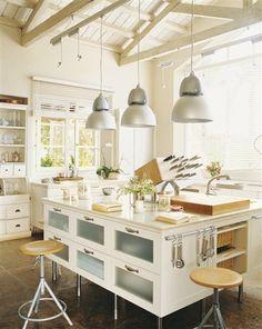 14 cocinas con isla, 14 cocinas muy prácticas · ElMueble.com · Cocinas y baños