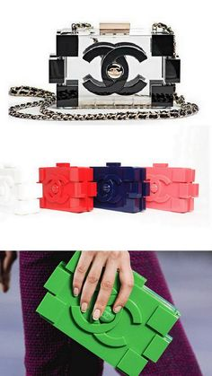 I'm obsessed with these Chanel lego bags