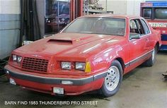 Ford : Thunderbird Base Trim 83 T Bird BARN FIND PRO STREET HOT ROD STREET ROD Coupe 460 V8 Red - http://www.usabarnfinds.com/archives/9975