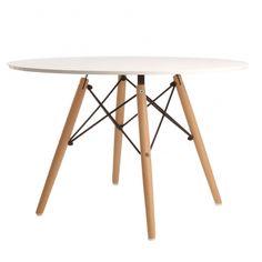 Mesa estructura patas madera Eames