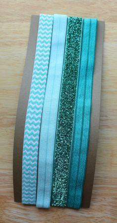 Elastic Headbands  aqua palette set of 4 by colormecaitie on Etsy, $11.00