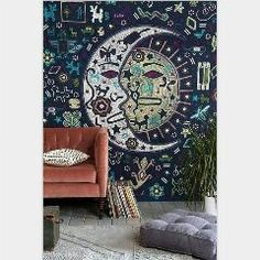 [ 21% OFF ] Indian Mandala Tapestry Home Decorative Wall Tapestry Hippie Tapesties Polyester Floral Print Bed Spread