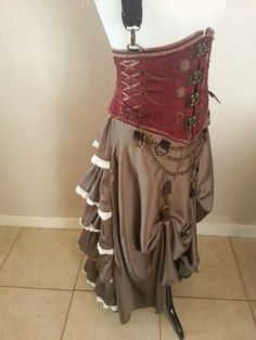Steampunk Under Bust Corset with Removable by TrynityTechStyles