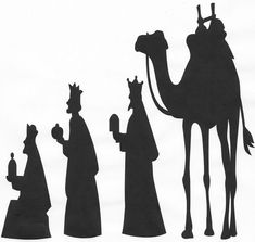 """Nativity Scene Silhouette 