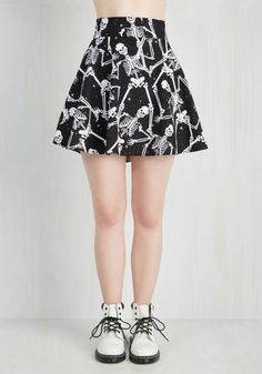 dancing skeleton skirt| up to 4XL!  pastel goth nu goth punk goth halloween plus size fashion plus size clothing plus size fachin skirt skater skirt skeleton bones plus modcloth