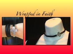"Premier Designs ""Wrapped in Faith"" wrap bracelet I ordered worn as a choker, love this idea!"