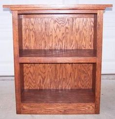 These free bookshelf plans are for woodworking beginners.