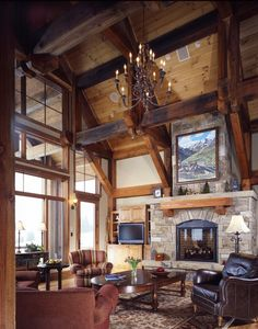Love the high ceilings, fireplace... ah, everything!