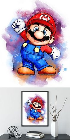 - Baby Zimmer Dekor The Effective Pictures We Offer You About jogando Video Games A quality picture can tell you m Super Mario Kunst, Super Mario Art, Super Mario Room, Mario And Luigi, Mario Kart, Wallpaper Nintendo, Disney Drawings, Cute Drawings, Gamer Gift
