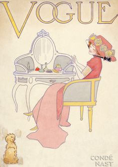 Vintage Vogue cover - dressing table