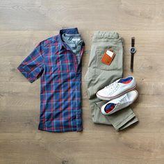 Shirt: Dakota Grizzly // Henley: Paper Denim Cloth // Denim: Nifty Genius // Sneakers: Colchester Rubber Co. Stylish Men, Stylish Outfits, Men Casual, Mode Man, Mens Fashion 2018, Men's Fashion, Sneakers Fashion, Casual Sneakers, Men's Sneakers
