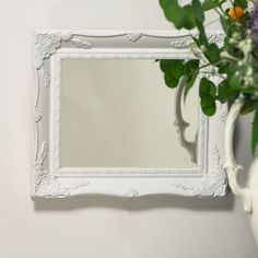 Beautifull white painted vintage shabby chic by HandCraftedMirrors, £20.00