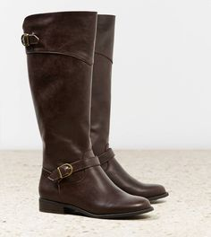 AEO Buckle Strap Riding Boot- Love these!