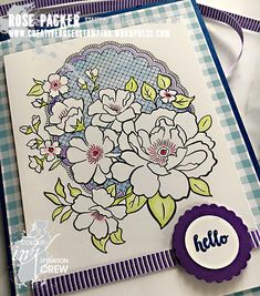 Rose Packer, Creative Roses, Stampin' Up!, Lovely Lattice, A Big Thank You Thing 1, Stampin Up Catalog, Flower Patch, Flower Basket, Stamping Up, Flower Cards, Stampin Up Cards, Making Ideas, Birthday Cards