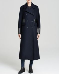Dkny Coat - Double Breasted Long