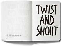 "The Swiss graphic designer Marcus Kraft likes music and words. His latest self-initiated project is a book containing ""250 of the best songs for the times when solid advice is needed."" Song titles, actually, and they all look terrific, rendered with black brushstrokes on spartan white."