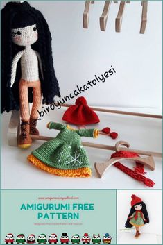 We have translated the amigurumi winter doll pattern for you.You can visit our website for more free patterns. Angel Crochet Pattern Free, Crochet Patterns Amigurumi, Amigurumi Doll, Free Crochet, Free Pattern, Knitted Dolls, Crochet Dolls, Crochet Hats, Doll Patterns Free