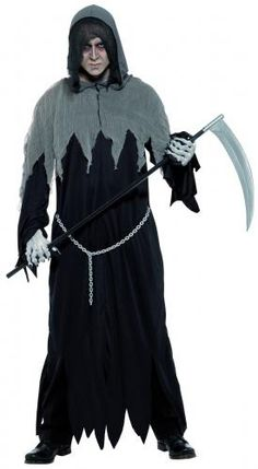 NEW Grim Reaper Scythe Smiffy/'s Death Halloween Fancy Dress Accessories Prop