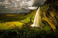 Seljalandsfoss is one of the most famous waterfalls in Iceland. Photo #1 by Howard Ignatius