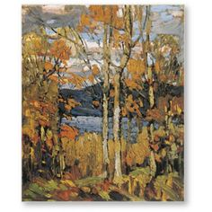 Find Tom Thomson's most popular prints at the Golden Eagle Art Gallery in Stouffville, Ontario. We carry many canvas options so you can own the fine art reproduction that best suits your home. Group Of Seven Artists, Group Of Seven Paintings, Canadian Painters, Canadian Artists, Landscape Art, Landscape Paintings, Landscapes, Contemporary Landscape, Fall Paintings