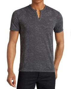 John Varvatos Short Sleeve Knit Henley | Bloomingdale's