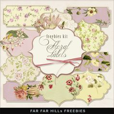 Click  HERE  to download New Freebies Kit of Floral Labels .                        And  see  My Vintage  Freebies . Enjoy!   Please, lea...