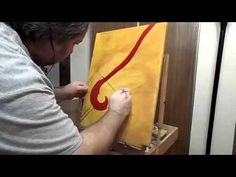 "How To Create Demo ""The Pour"" Acrylic Painting - Wine into a glass Paper Shopping Bag, Original Art, Wine, Create, Glass, Painting, Drinkware, Corning Glass, Painting Art"