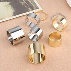 4PCS of Simple Hot Sale Solid Color Alloy Knuckle Rings For Women