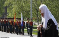 May 9 2010 Day of Victory -  holiday of victory of USSR on nazi Germany in Great Domestic war 1941- 1945 y. grave of Unknown soldier , Patriarch Kirill , Moscow