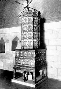 Bild eines Renaissancekachelofen aus dem Jahr 1577