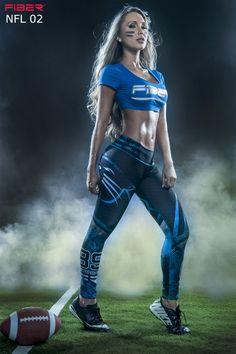 9facad17e Fiber - Carolina Panthers Leggings - Roni Taylor Fit Workout Clothes Cheap