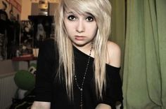 indie scene blonde hair