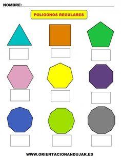 Lámina muda para trabajar los polígonos regulares