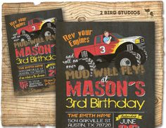 Hey, I found this really awesome Etsy listing at https://www.etsy.com/listing/188445292/monster-truck-invitation-monster-truck