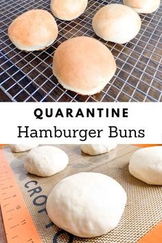Are you trying to stay away from the grocery store? Do you have the hamburger meat, but not the buns? Make your own delicious hamburger buns! Dinner Ideas Hamburger Meat, Hamburger Meat Recipes Ground, Hamburger In Crockpot, Homemade Hamburger Buns, Homemade Hamburgers, Meat Recipes For Dinner, Hamburger Bun Recipe No Yeast, Homemade Buns, Healthy Meat Recipes