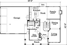 Bungalow Style House Plan - 3 Beds 2.5 Baths 2880 Sq/Ft Plan #78-191