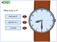 Telling Time - Game for SmartBoard