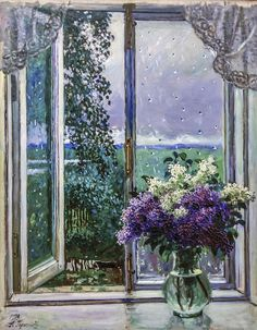 Art Trip To Saint Petersburg — The Art of Eeva Nikunen - Victorian Fantasy Art & Illustration Window View, Open Window, Window Art, Oil Painting Flowers, Light Painting, Love Art, Art Boards, Unique Art, Pastels