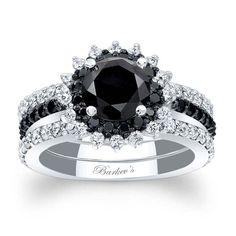 Barkev's Black Diamond Bridal Set - BC-7969S2BK