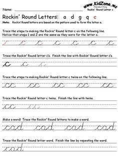 cursive writing practice sheets