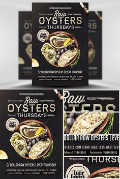 Flyer Template - Seafood Thursday