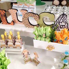 Detalhes lindos de uma festa com o tema Dia de safári - Crescer   Temas