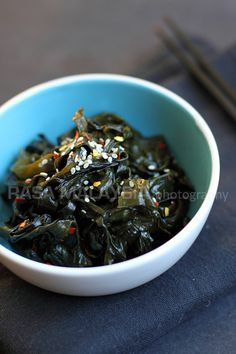 Seaweed Salad. Super easy and nutritious. Add fresh ginger and use purple seaweed and it may become your new comfort food. Seriously.