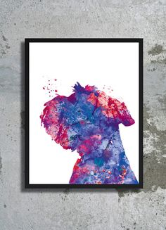 Miniature schnauzer Watercolor Print Dog Art Dog Watercolor Dog painting…